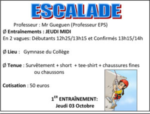 Association sportive escalade