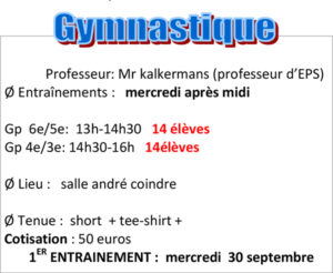 Association sportive gymnastique